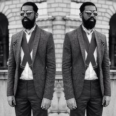   #London #monochrome #dapper #dandy #beard #moustache #beardsofinstagram #gentleman #tailored #sartorial #velsvoir #cravat #beardedgentleman #movember #luxury #mensstyle
