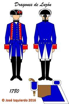 Regimiento de Dragones de Luzón,  1780