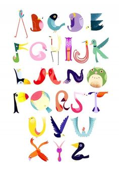 More than 45 free wall art printables for kids rooms and nurseries! via Hellobee More than 45 free wall art printables for kids rooms and nurseries! via Hellobee Alphabet Art, Animal Alphabet, Alphabet And Numbers, Animal Letters, Alphabet Posters, Abc Poster, Alphabet Soup, Letter Art, Typography Letters
