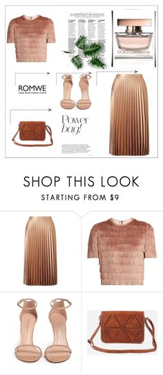 """Show off your *romwe* x"" by xpinkplaymatex ❤ liked on Polyvore featuring Miss Selfridge, Raey, Stuart Weitzman and Dolce&Gabbana"