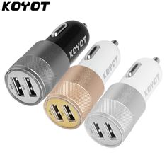 KOYOT Dual USB Car Charger For Iphone X 8 7 Plus Universal mobile phone USB Adapter For Samsung S6 S5 USB Cigar Socket  Price: 2.81 & FREE Shipping  #hashtag2