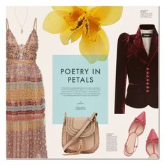 """""""Poetry In Petals"""" by redflowergirl ❤ liked on Polyvore featuring Valentino, Dsquared2, Kate Spade, Chloé, Anja and Lilly Pulitzer"""