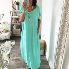 The Nina Dress . with a belt above the belly ; Comfy Dresses, Cute Dresses, Casual Dresses, Cute Outfits, Cute Fashion, Modest Fashion, Fashion Looks, Fashion Outfits, Fasion
