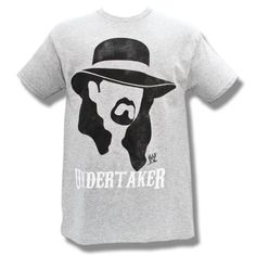 WWE The Undertaker Face Shot Gray Adult Size Large T-Shirt