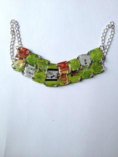 Bracelet en métal recyclé - motif japonais : Bracelet par miss-castafiore