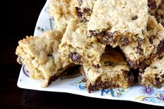Oatmeal Chocolate Chip Bars. Excellent recipe. Made this in a 9x13 pan and baked for 40 minutes.