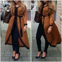 Tunique Caftan Morrocan Dress, Moroccan Caftan, Abaya Fashion, Fashion Dresses, Mode Abaya, Muslim Dress, Cape Dress, Oriental Fashion, Hijab Outfit