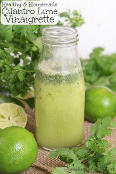 Avocado Cilantro Lime Dressing, Cilantro Lime Vinaigrette, Vinaigrette Dressing, Salad Dressing Recipes, Salad Dressings, Salad Recipes, Southwestern Salad, Roasted Shrimp, Cilantro