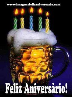 Feliz Aniversàrio com cerveja