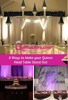 Here are 8 simple ways to make your head table amaze your guests!