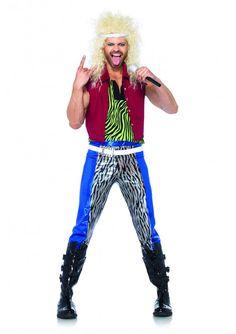 80s rock god adult costume - Sundrop Halloween Costume