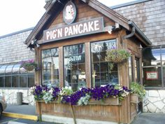 Pig n' Pancake. A chain along the Oregon coast. Will be my stop for breakfast every time I visit from now on.