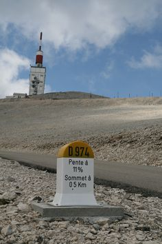 Weather station at the top of Mont Ventoux - I once flew a kite on the top! Cycling Tattoo, Cycling Art, Big Mountain, French Alps, Winding Road, Grand Tour, Places To Visit, Around The Worlds, Country Roads
