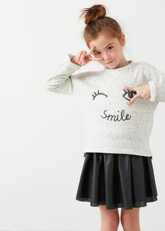 Flecked printed sweatshirt -  Kids | MANGO Kids USA