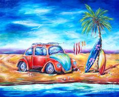 Resultado de imagem para beach art