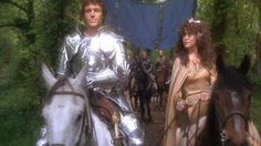 """Nicholas Clay As Lancelot And Cherie Lunghi As Guinevere In Excalibur (1981) """"And while you live, I will have no other."""""""