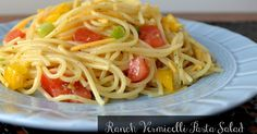 Hot Eats and Cool Reads: Ranch Vermicelli Pasta Salad Recipe