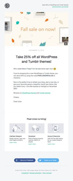 Design Newsletter Ideas Example #email #emailmarketing