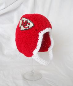 Kansas City Chiefs  Inspired Crochet Baby Football by CDBSTUDIO, $29.99
