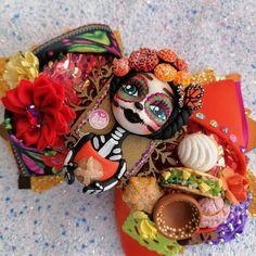 Flores folklor Flores vasijas moño bow bincha México