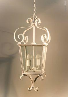 The beautiful Parisian hanging lantern, Stone colour finish.. We just <3 this lantern.. CG&H