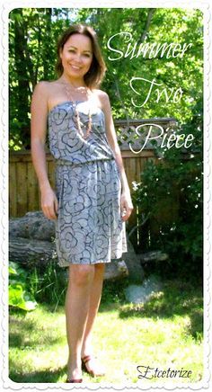 Step by step tutorial to make your own two piece dress for summer~   #sewing #tubedress