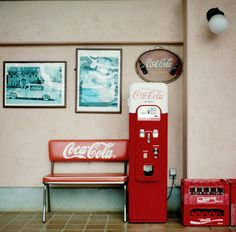 I love the comp and colors...and of course the coke bench!