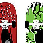 Skateboard wall decals for the boys' room