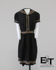 Black Cotton Bathing Suit, 1915
