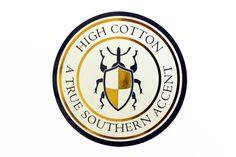 High Cotton Logo Sticker - Navy & Gold