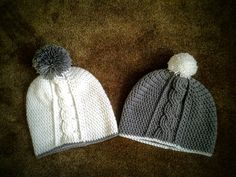 Vertical Cable Hat - Beanie/Slouchy by CuddleinCrochet on Etsy