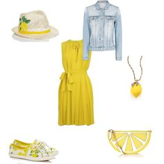 Casual Lemons by writergurl-1 on Polyvore featuring Diane Von Furstenberg, MANGO, Kate Spade and Accessorize