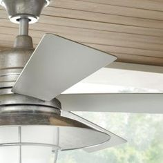 Replacement 52 ceiling fan blades reversible sandy gray finish 5 home decorators collection grayton 54 in indooroutdoor galvanized ceiling fan 34343 at the aloadofball Gallery