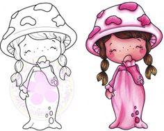 "C.C. Designs Swiss Pixie ""Mushroom Girl"" Rubber Stamp"
