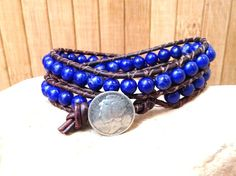 Pro Mia Beaded Leather Double Wrap Bracelet with by PureLion