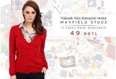 Yüksek Yün Karışımlı Hırka MAYFIELD S7003  11 Farklı Renk Alternatifi  49.99 TL  http://www.bregla.com/hirka