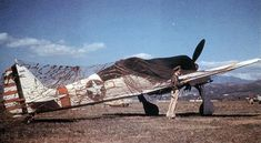 Focke–Wulf Fw 190G-3 (W.No. 160057) was one of two captured by ground crews of the 85th Fighter Squadron, 79th Fighter Group at Gerbini Airfield on the Sicily, in September 1943