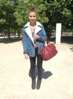 PULL & BEAR Manteau, blouson -  PULL & BEAR Jean #women #mode #look #streetstyle http://moodlook.com/look/2014-04-15-france-paris-8