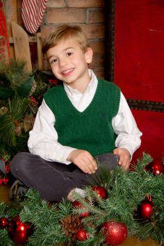 """Christmas Smiles"" Portrait Creations Children's Portrait Studio in Charlotte, NC."
