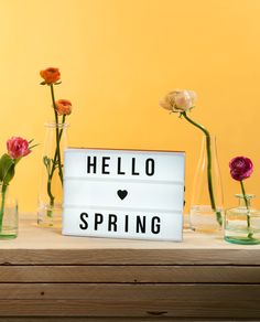 Lightbox with spring saying. Lightbox with spring saying. Cinema Light Box Quotes, Light Quotes, Steps Quotes, Valentine's Day Quotes, Message Light Box, Lightbox Letters, Lead Boxes, Led Light Box, Light Board