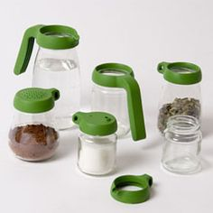 Jar toppers- screw onto any standard U.S. jars for limitless possibilities.