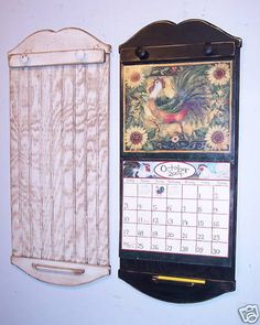 Wall Calendar Frame spruce up your calendar holder with a little twine and scrapbook