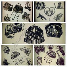 star wars flash sheet....i like the boba & r2 umbrella