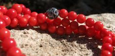 Bamboo Coral Mala Prayer Beads Rosary  Red by LotusJewels on Etsy, $24.99