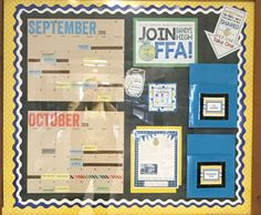 FFA Recruitment Bulletin Board- can place papers to be picked up in the blue folders.