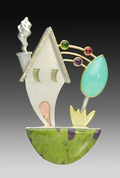 Yumi Ueno Art Jewelry & Metal : Jewelry Gallery : Brooch