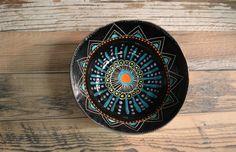 P A I N T E D   S U N S E T  Stoneware serving bowl by mbundy