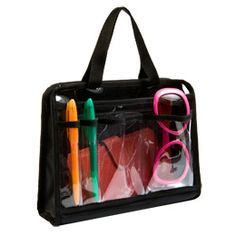 my absolute favorite handbag organizer - own 3 - for purse, for suitcase and spare (really vg) The Container Store > Handbag Organizer Insert