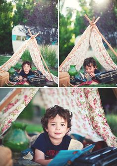 styled boys shoot with tent by kym vitar photography