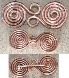 Copper Wire Double Spirals